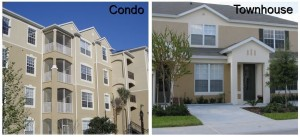 difference in financing a condo and townhome