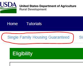 USDA property eligibility instructions