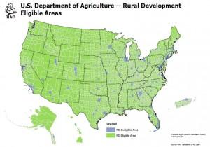 USDA eligibility map
